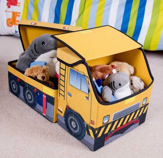 历史新低!Clever Creations 小卡车 儿童玩具收纳盒 10.49加元清仓!