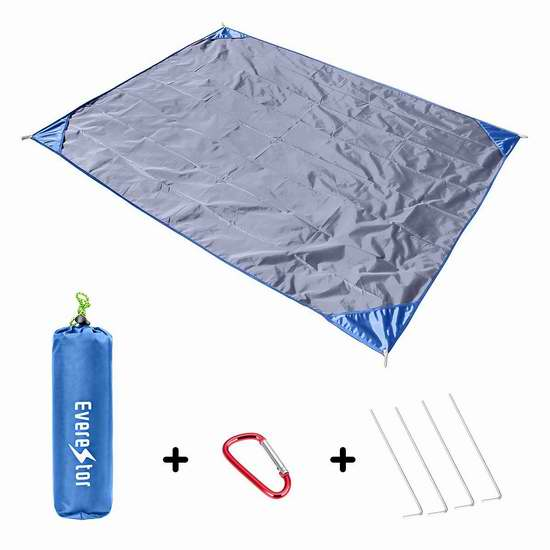 Everestor 便携式超轻户外防水地垫/野餐垫4.2折 7.99加元限量特卖!4色可选!