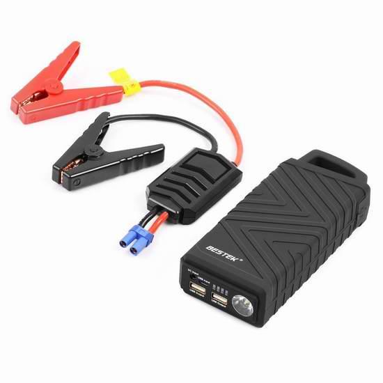 BESTEK 600A 10000mAh 便携式移动电源/充电宝/汽车电瓶紧急启动电源 62.04加元限量特卖并包邮!两色可选!