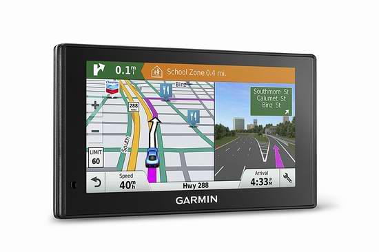 补货!翻新 Garmin 佳明 DriveSmart 60 聪明导航家 5寸 GPS卫星导航仪 92.99加元包邮!