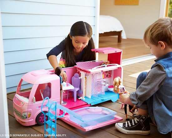 历史新低!Barbie Camper 芭比娃娃露营车6.2折 79.95加元包邮!