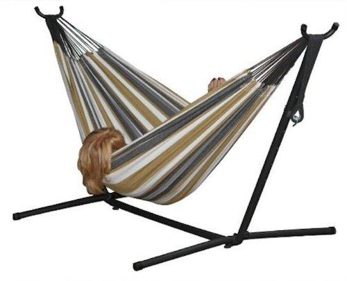 历史新低!Vivere Combo 8英尺双人吊床+金属支架套装4.4折 88加元包邮!