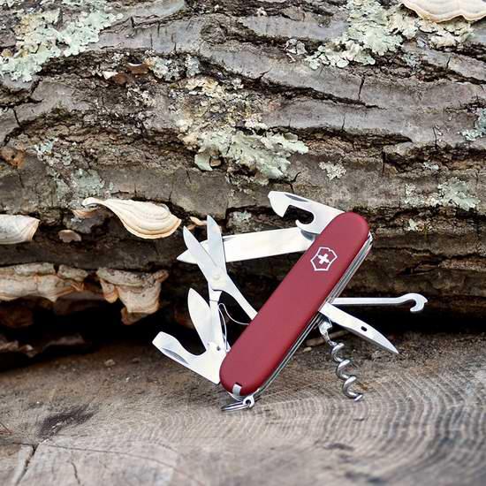 近史低价!瑞士 Victorinox 维氏 14功能攀登者II 工具刀5.4折 23.22加元!