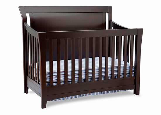 历史新低!Delta Children Adele 四合一多功能成长型 实木婴儿床6折 323.99加元包邮!