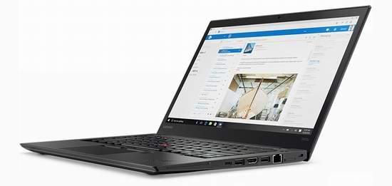 黑五专享!Lenovo 联想 ThinkPad T470s 14寸轻薄笔记本电脑6.5折 1078.35加元包邮!