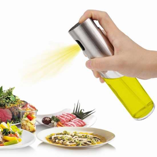 FSDUALWIN 100ml 炒菜烧烤凉拌 超细喷雾油瓶 8.49加元限量特卖!