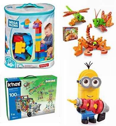 金盒头条:精选大量拼插积木类益智玩具2.1折起!售价低至4.29加元!