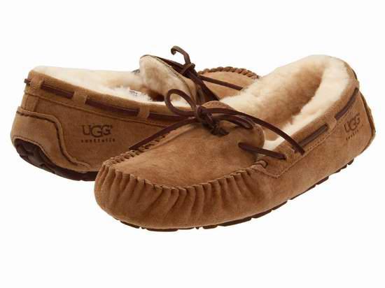 UGG Dakota Moccasin 真皮羊毛 女士豆豆鞋5.2折 70.35加元起包邮!