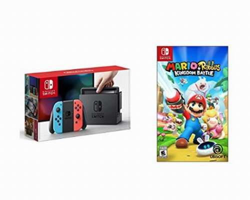 手慢无,黑五专享!Nintendo 任天堂 Switch 便携式游戏机+《超级马里 贱兔王国之战》套装 439.99加元包邮!