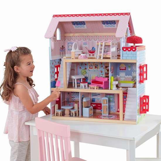 KidKraft 65054 Chelsea 玩具娃娃屋5.5折 93.49加元包邮!会员专享!