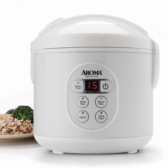 历史新低!Aroma ARC-914D 8杯量 多功能数字电饭煲4.2折 21.27加元!