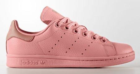Adidas Stan Smith 成人/少女 全粉红运动鞋 35加元包邮!