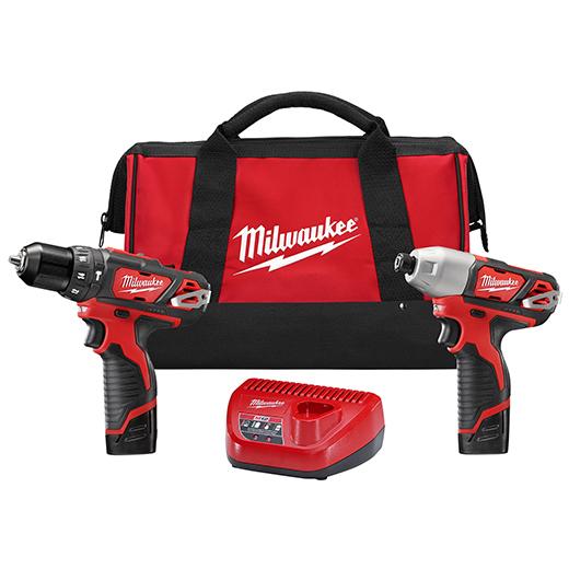 黑五专享!历史新低!Milwaukee 2494-22 M12 充电式冲击钻/电钻/起子机2件套5折 99加元包邮!