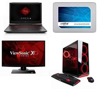 黑五专享!精选21款 Acer、HP 等品牌游戏笔记本电脑、台式机、游戏显示器、游戏耳机、固态硬盘、游戏鼠标键盘、游戏视频录制盒等3.7折起!