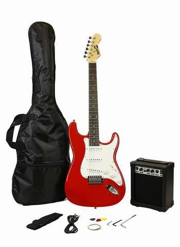 黑五专享!历史新低!RockJam RJEG02-SK-RD ST 电吉他+扩音器套装6.6折 99加元包邮!