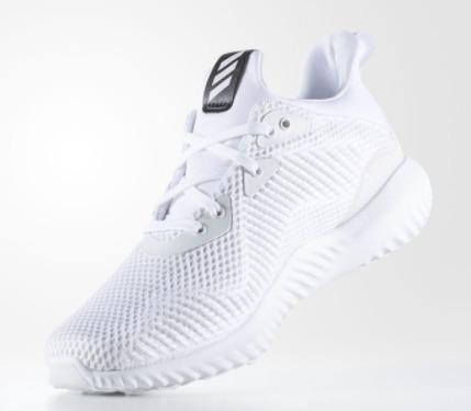 Adidas AlphaBounce 女式纯白运动鞋1.9折 30加元包邮!