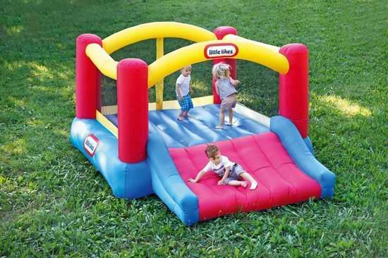 销量冠军!Little Tikes 小泰克 Jump n Slide 大型户外一体式儿童充气蹦床+滑梯组合6.1折 245加元包邮!