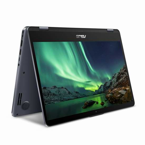 网购周专享!历史新低!Asus 华硕 VivoBook Flip 14英寸 纤薄超轻 变形笔记本电脑(6GB, 1TB) 799.99加元包邮!