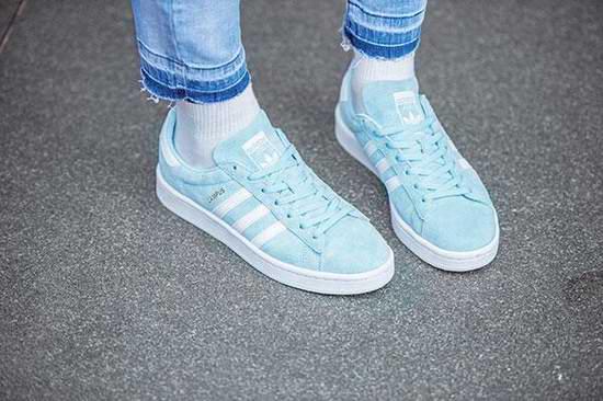 Kendall Jenner、Gigi Hadid同款!Adidas Campus 女式浅蓝复古 麂皮运动鞋3.3折 39.97加元包邮!