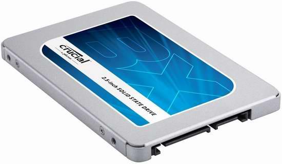 白菜价!历史新低!Crucial 英睿达 BX300 480GB SATA 2.5寸固态硬盘 79.99加元包邮!