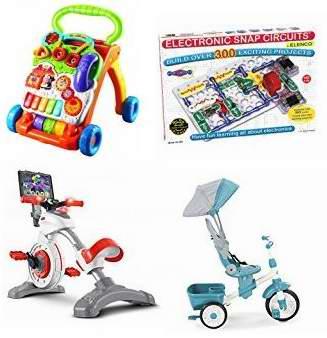 金盒头条:精选28款 VTech、Elenco、Nerf、Hasbro 等品牌儿童益智玩具、玩具枪、积木、三轮车等4.3折起!售价低至9.49加元!