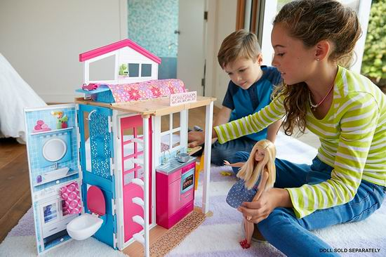 历史最低价!Barbie 芭比娃娃和她的玩具屋4.5折 25加元!会员专享!