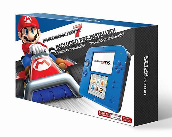 历史最低价!Nintendo 任天堂 2DS 掌上游戏机 89.99加元包邮!