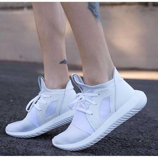 Adidas Originals Tubular Defiant 女式全白色运动鞋3.5折 45加元包邮!
