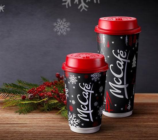 McDonald's 麦当劳 McCafé 麦咖啡换节日装!XL加大杯仅需1元!