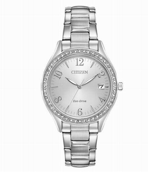 Citizen 女款施华洛世奇水晶腕表 129.99加元,原价 349.99加元,包邮