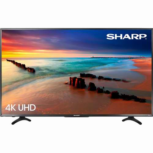再降100加元!Sharp LC-55LBU591C 55英寸 4K UHD HDR LED智能电视 549.99加元,原价 999.99加元,包邮