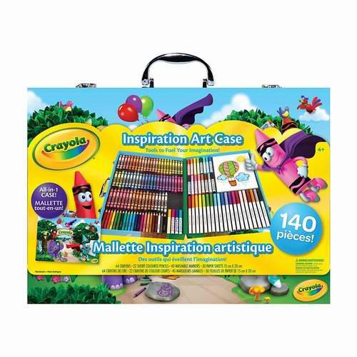 手慢无!Crayola 绘儿乐 灵感艺术儿童绘画140件套礼盒装5折 14.97加元!