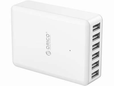 ORICO 50W 6个USB接口充电器 19.99加元,原价 69.99加元,包邮