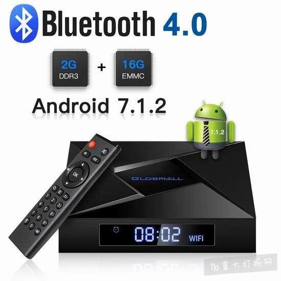 Globmall ABox A1 MAX 4K超高清 纯净版 网络电视机顶盒(2GB/16GB) 47.43加元限量特卖并包邮!