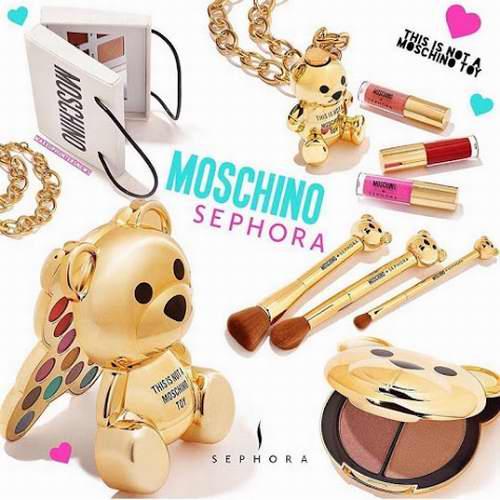 Moschino x Sephora合作金色熊仔彩妝系列 满50加元立减15-25加元!