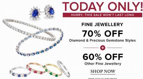 今日閃購:精選大量 Fine Jewellery、Effy 等品牌 金銀鑽石珠寶首飾3折起!