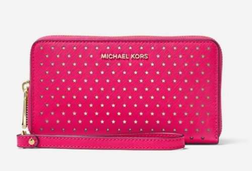 MICHAEL KORS Jet Set Perforated 星形长款钱包 64加元(3色),原价 128加元,包邮