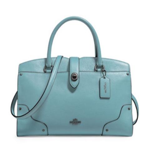 COACH Mercer 女式真皮时尚手提包3.7折 174.37加元包邮!