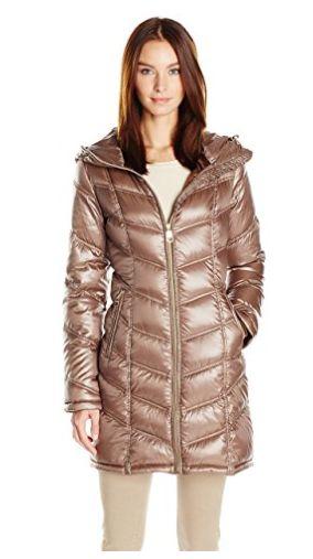 Calvin Klein 女式中长羽绒服2.1折 77.95加元起包邮!两色可选!