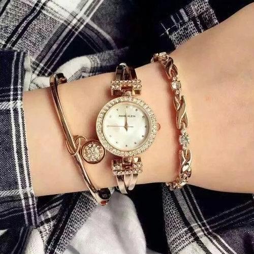 历史新低!Anne Klein AK/1868GBST 女士施华洛世奇水晶腕表/手表3.5折 78.72加元包邮!