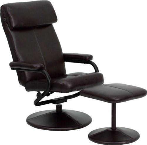 历史新低!Flash Furniture BT-7863-BN-GG 皮制舒适躺椅+脚踏 110.49加元包邮!
