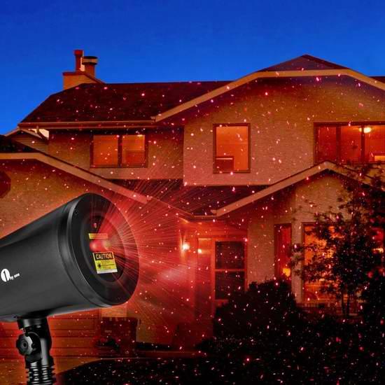 歷史新低!1byone 聖誕滿天星流星雨 激光裝飾燈 24.99加元!