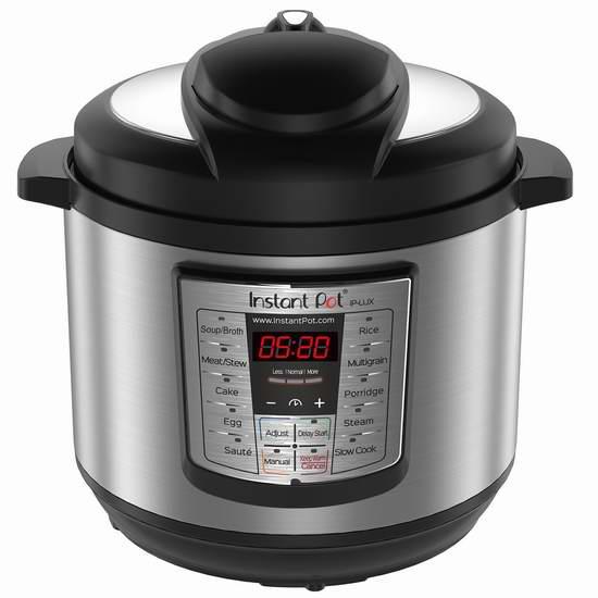 Instant Pot IPLUX80 Lux V3 8夸脱大容量 多功能电压力锅 129.99加元包邮!
