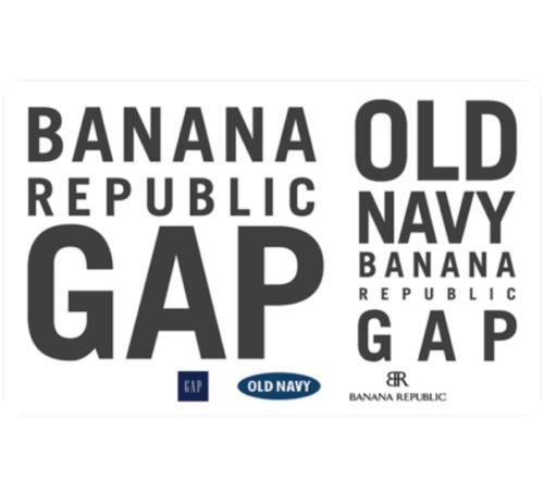 Gap、Old Navy、Banana Republic 通用电子礼品卡9折!