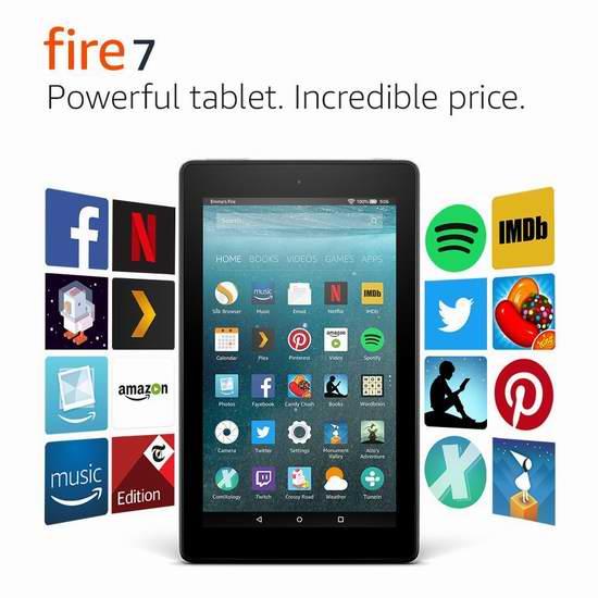 Amazon Fire 7 7英寸平板电脑(8GB/16GB) 49.99-69.99加元包邮!