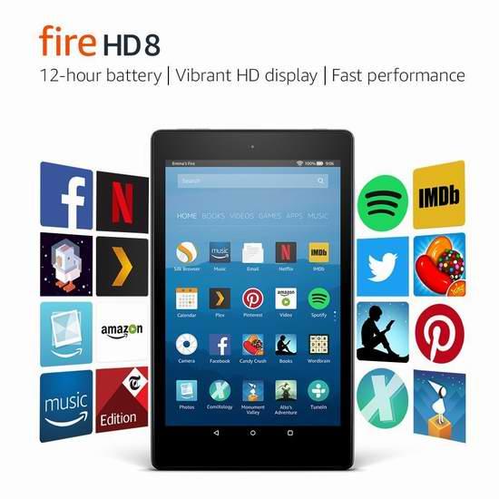 历史新低!新品 Amazon Fire 8 8英寸平板电脑(16GB/32GB) 69.99-89.99加元包邮!会员专享!