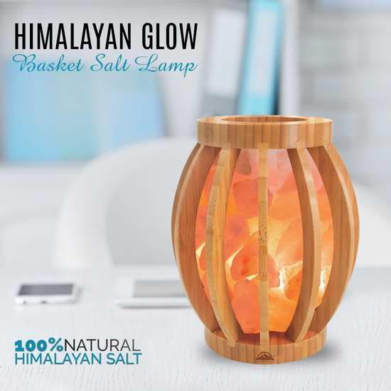 超级白菜!Himalayan Glow 纯天然负离子水晶盐灯1.3折 12.77加元!