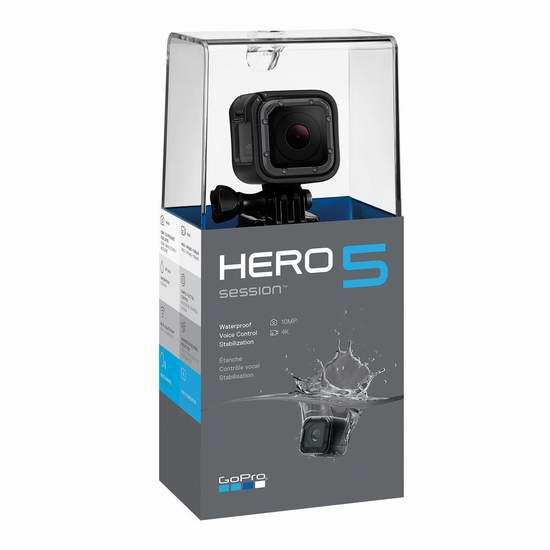 黑五价上再降90加元!GoPro HERO5 Session 4K 超高清运动摄像机6.7折 269.99加元包邮!