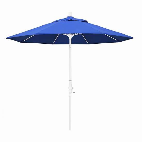 白菜价!California Umbrella GSCUF908170-F03 9英尺豪华可倾斜庭院遮阳伞1.5折 52.67加元清仓并包邮!