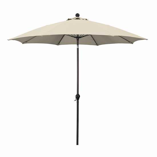 历史新低!California Umbrella 9英尺可倾斜庭院遮阳伞2折 27.76加元!